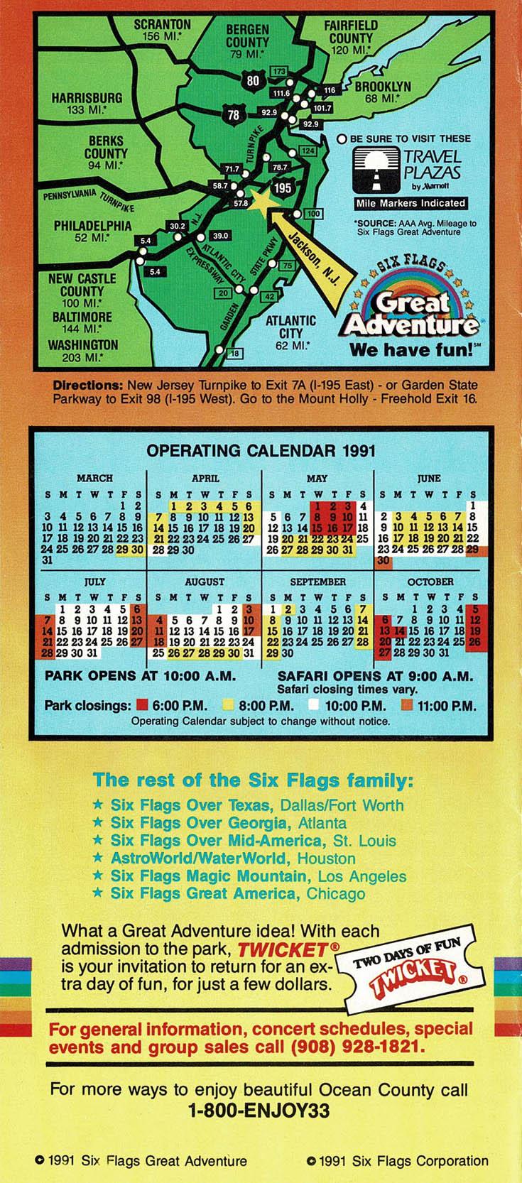 Great Adventure History 1991 Brochure