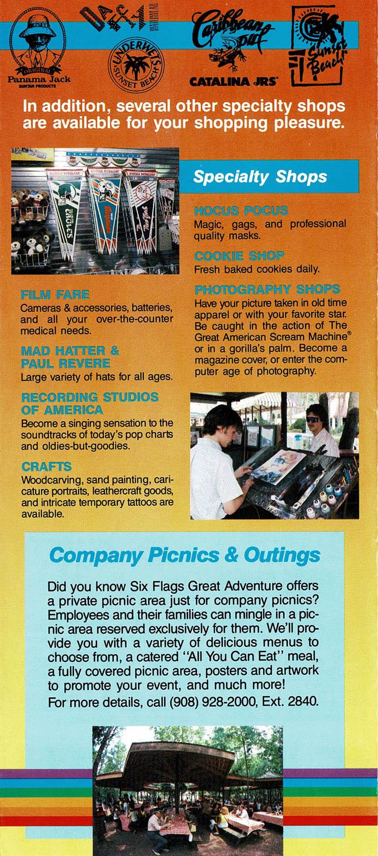 Great Adventure History 1991 In-Park Brochure