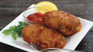 Corn and Freshwater Prawn Fritters Recipe