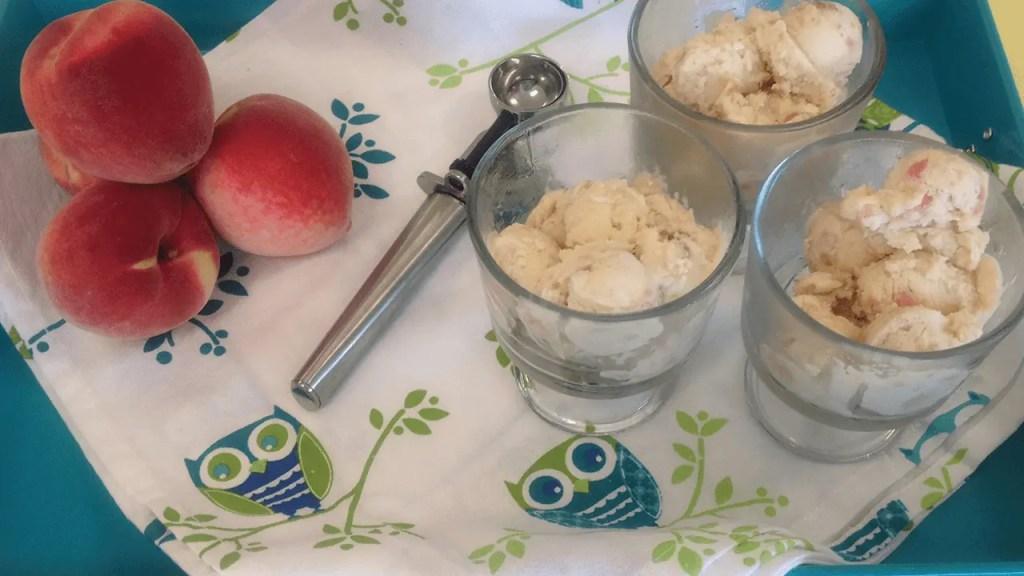 Caramel Peach Cheesecake Ice Cream Recipe