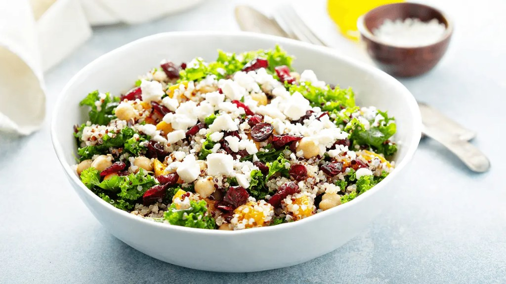 Romaine, Fruit, Nut and Cheese Salad Recipe