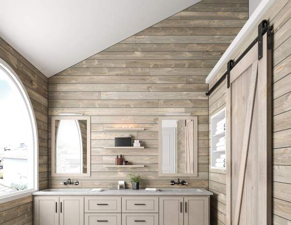 Shiplap Ceiling Bathroom