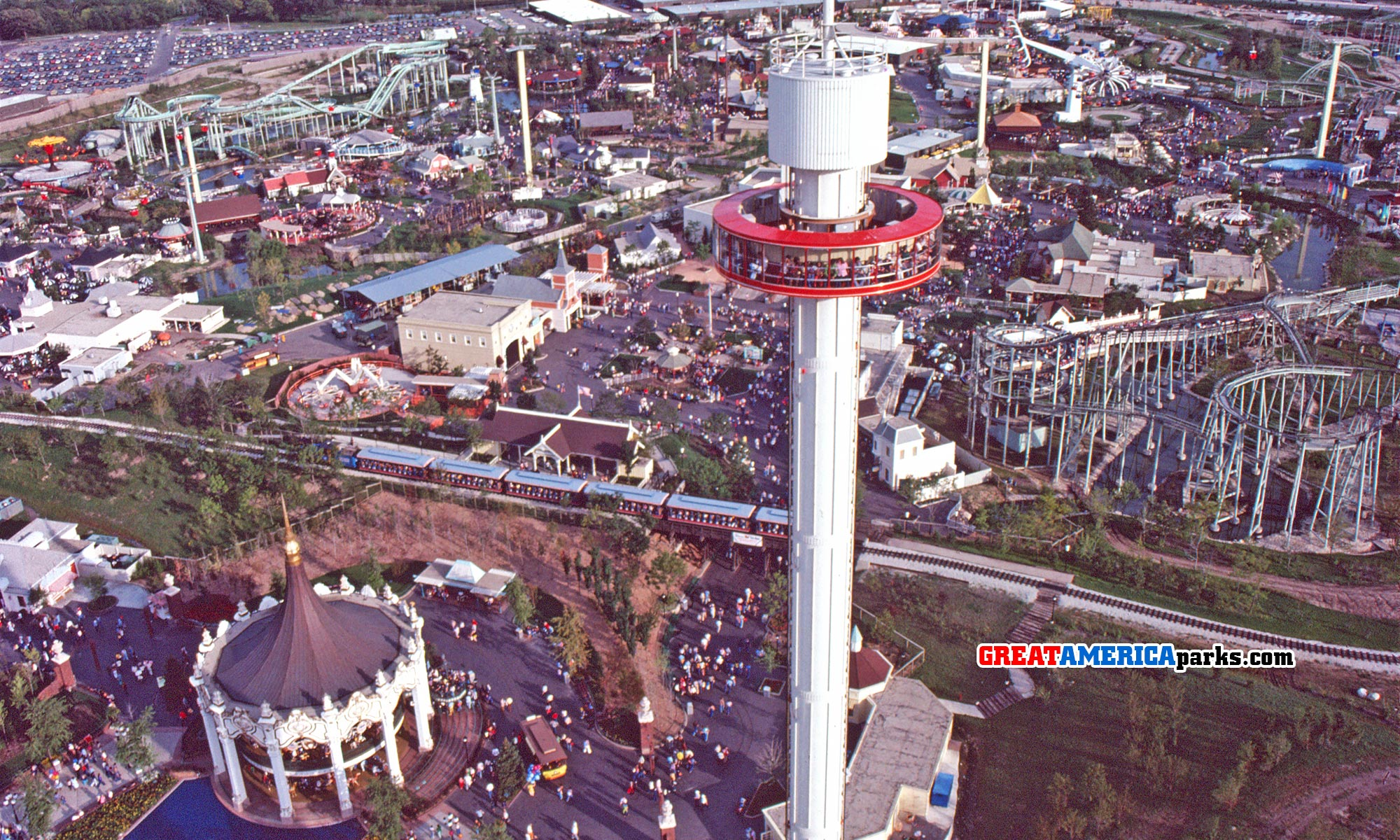 Sky Trek Tower in Gurnee, 1977