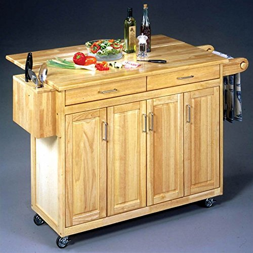 home styles kitchen cart tile countertops 5023 95 wood top with breakfast bar natural finish great bartender
