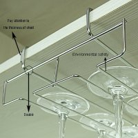 Mkono Under Cabinet Wine Glass Stemware Rack Holder Wire ...