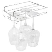 Stemware Hanging Wine Glass Rack Holder Frame Hanger Under ...