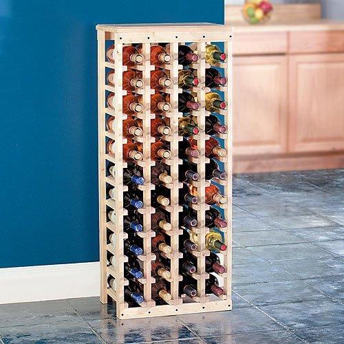 40 bottle wooden wine rack unfinished
