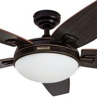 Honeywell Carmel Ceiling Fan, Oil Rubbed Bronze Finish, 48 ...