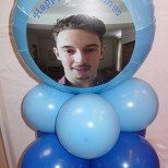 Photo on a balloons