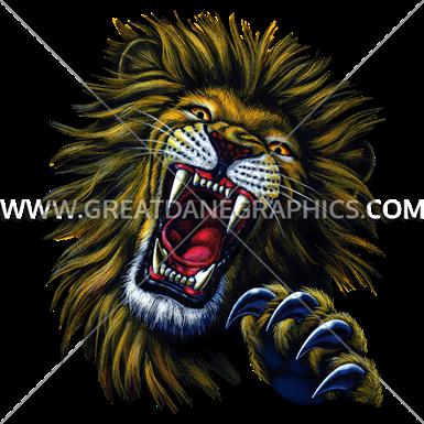 lion face production ready