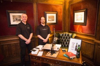 The Stamford Notebook Co. at The Goring for Laphroaig Lore launch event