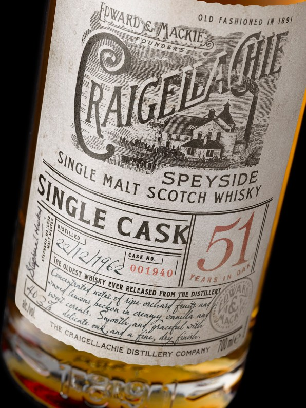 Craigellachie 51 Label Detail ON BLACK