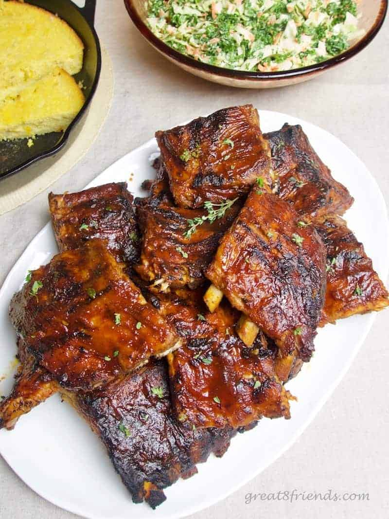 Fourth of July Food for Friends Barbecued Pork Ribs