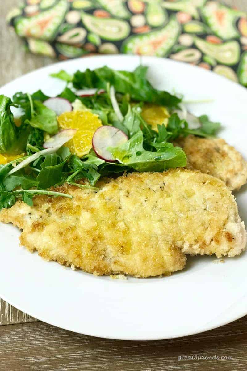Crispy parmesan chicken cutlets for two great eight friends these crispy parmesan chicken cutlets are the perfect dinner for two or double the recipe for forumfinder Choice Image