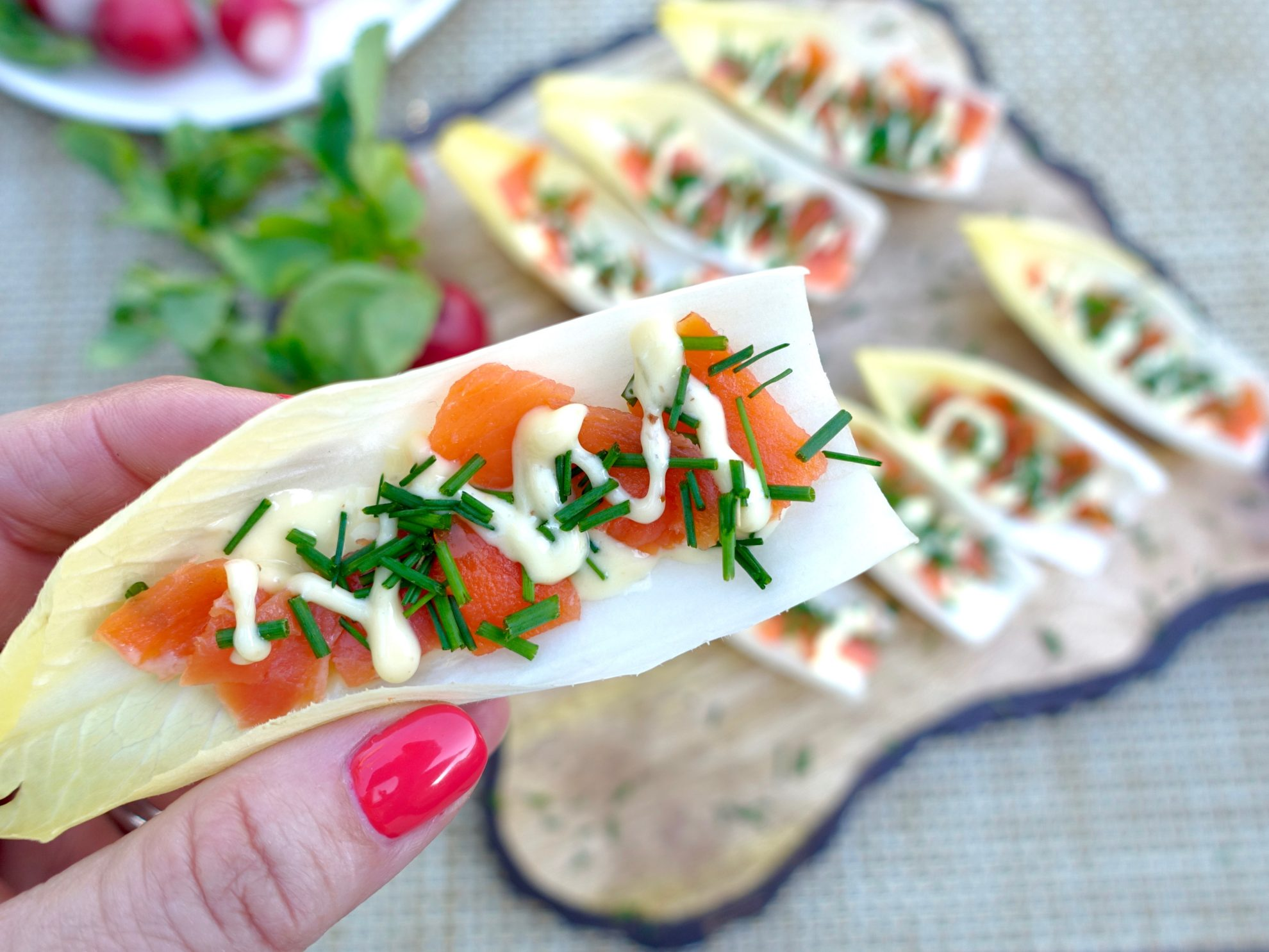 Endive with Smoked Salmon Finger 2