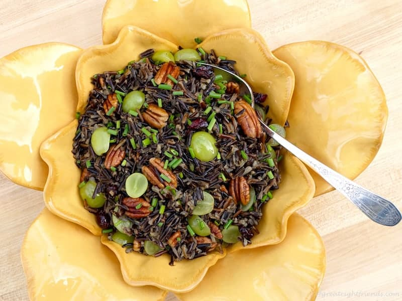 Wild Rice Salad with Serving Spoon