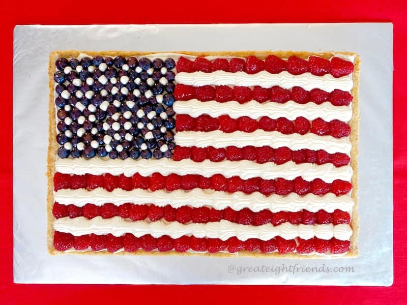 Fourth of July Food for Friends American Flag Fruit Pizza