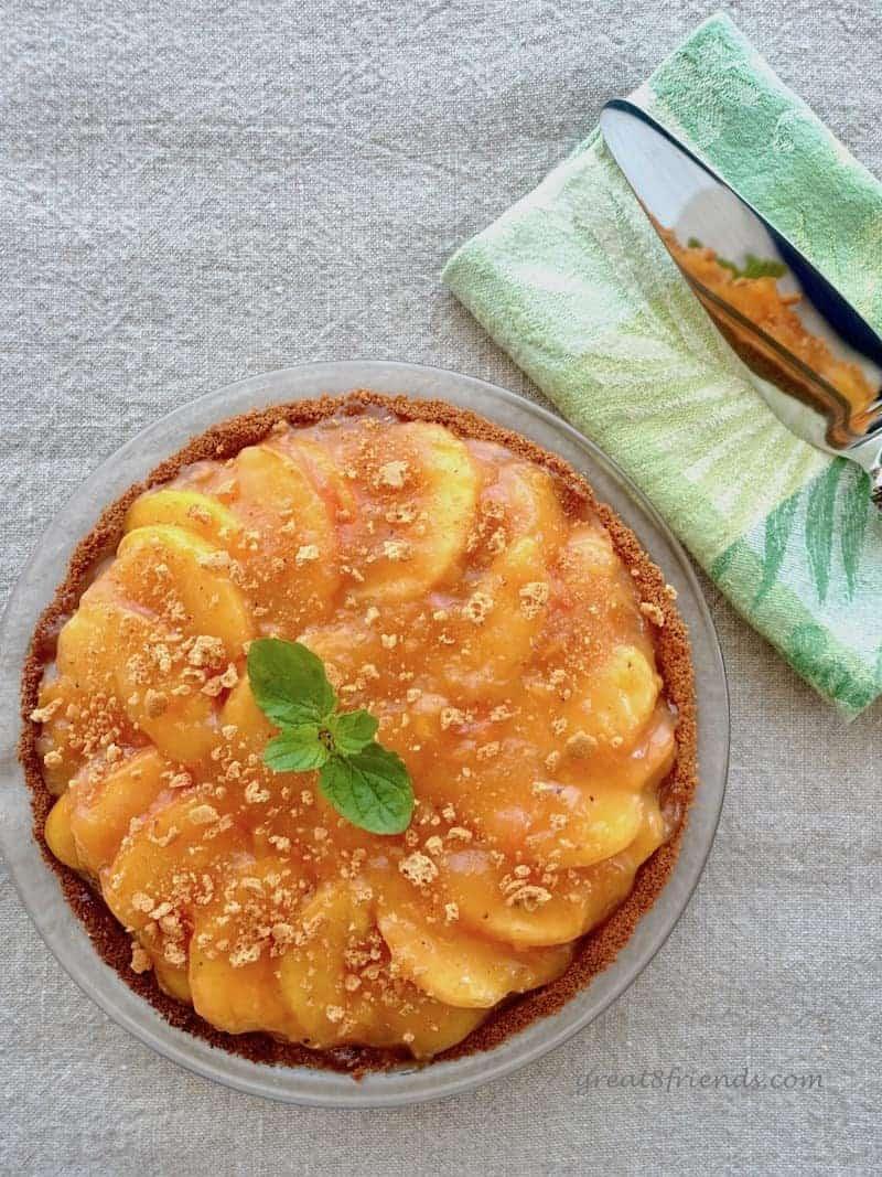 Peach Amaretti Pie
