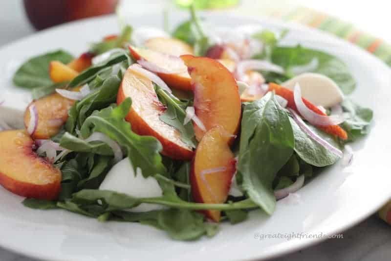 Nectarine Burrata Salad