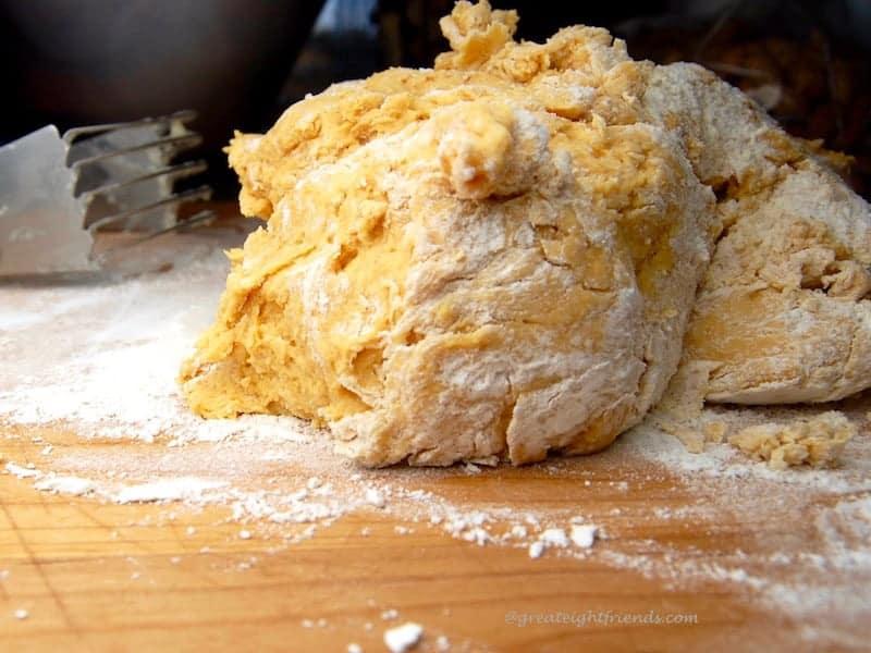 Pumpkin Biscuits Dough 1