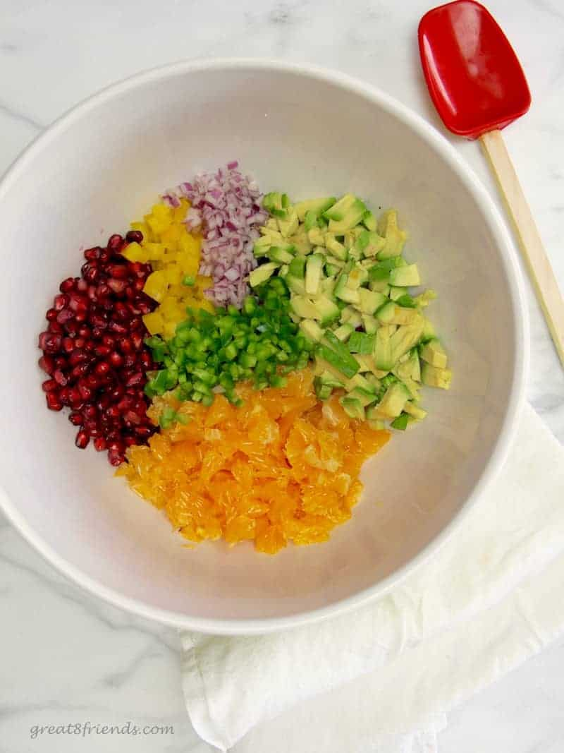 I make this Pomegranate Avocado Salsa every Christmas. The colors remind me of the season and it always looks festive on our appetizer table!