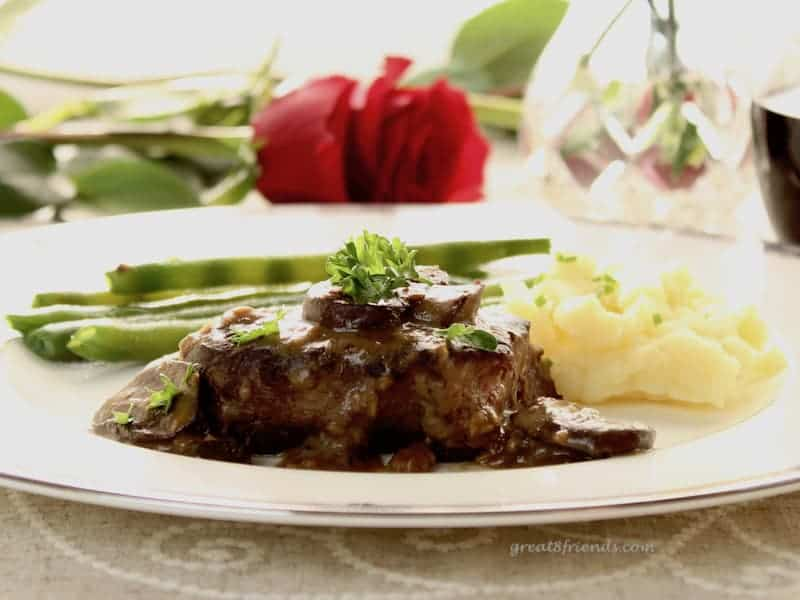 Filet Mignon is one of the easiest and most romantic meals you can make for two people. This recipe adds a delicious sauce to amp up the flavor!