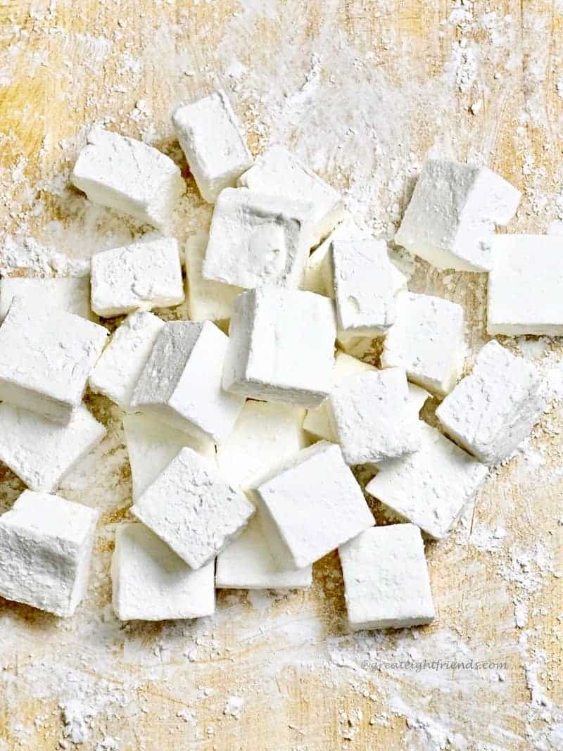 Marshmallows piled up