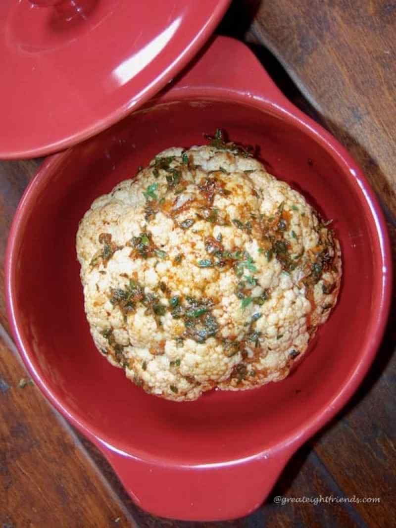 Roasted Cauliflower with spice rub