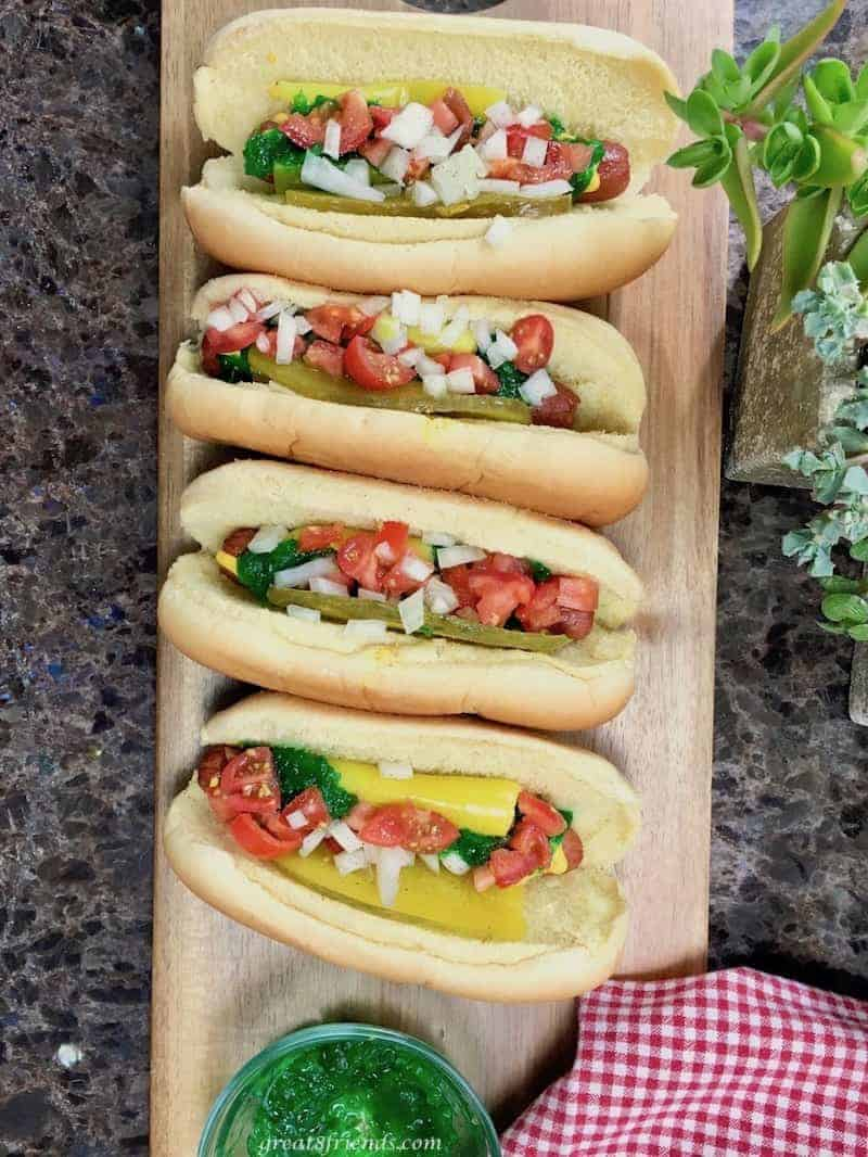 The Great 8 enjoyed a Chicago Dogs Dinner party with authentic food that you would find in the windy city. Come along and enjoy a dog!
