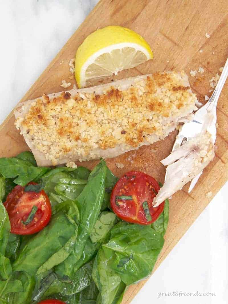 This Macadamia Nut crusted Mahi Mahi is easy to prepare and the perfect recipe for lunch or dinner! Add a side salad for a light meal.