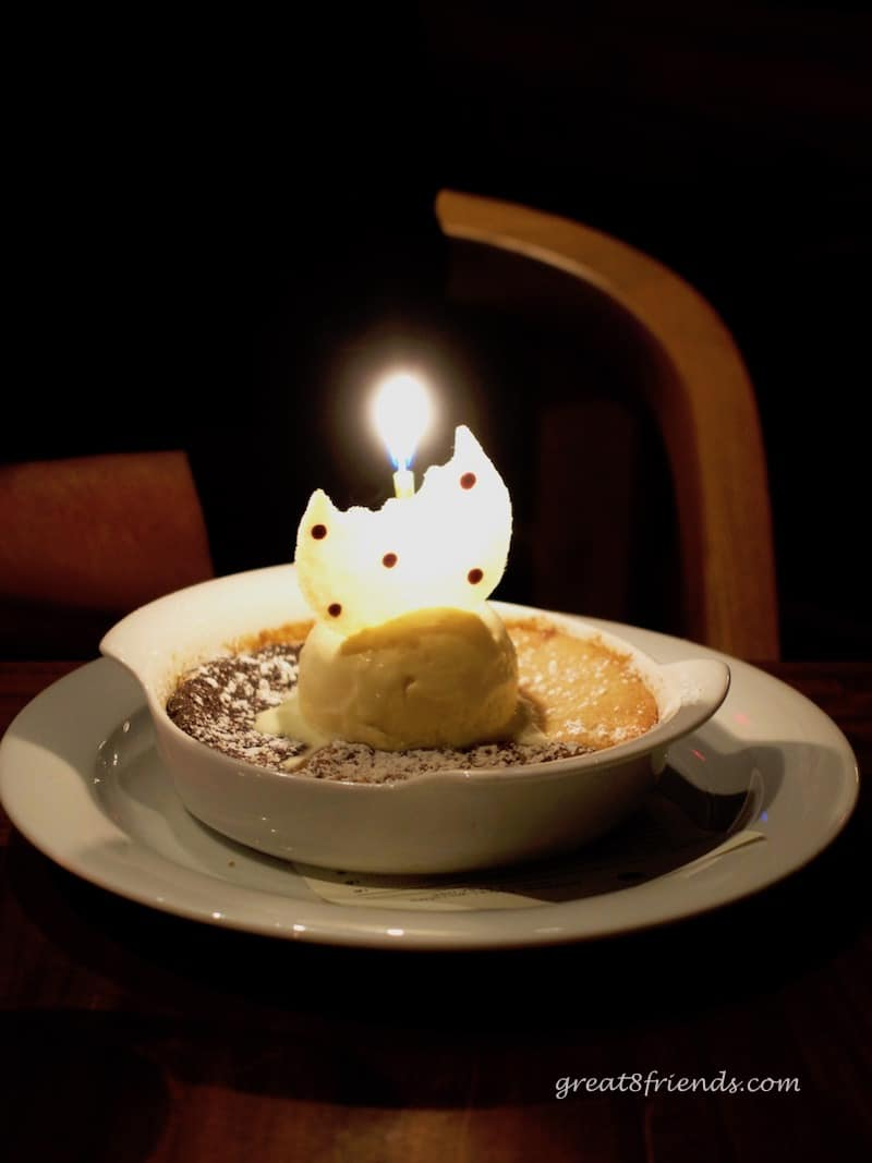 Water Grill Birthday Dessert