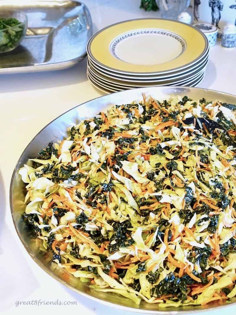 Fourth of July Food for Friends Kale Slaw