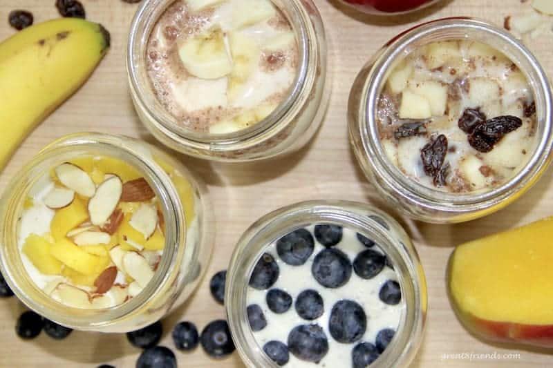 Breakfast Overnight Oats are the perfect grab and go morning meal. This morning make-ahead meal can be eaten cold or warmed up.