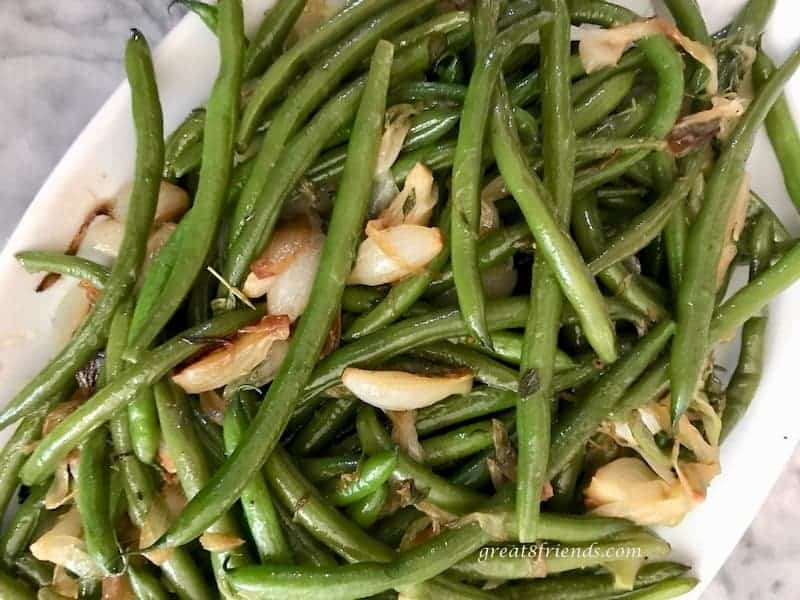 Here is a Great Green Beans and Onions dish that you can be sure to love more each time you make it! Perfect side dish for any meal!