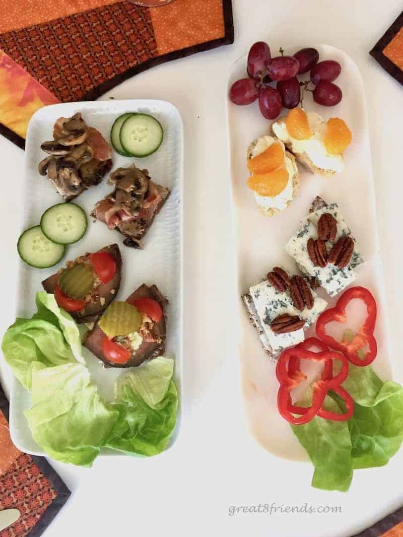 Open faced sandwiches are not boring in the Danish culture. Smørrebrød are scrumptious and beautiful, and interesting! Serve them at your next party!