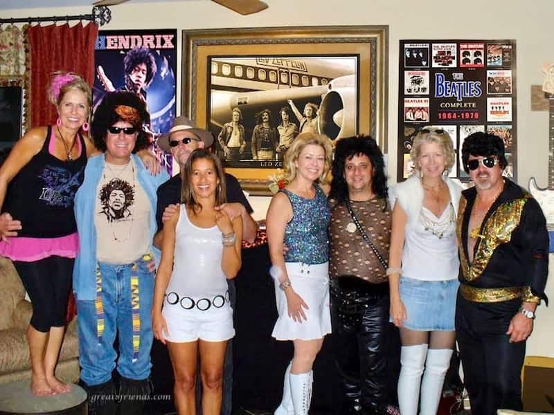 The Great 8 gathered to at the Streit Rock Cafe for a nostalgic and fun evening including fantastic food, great costumes and the best music.