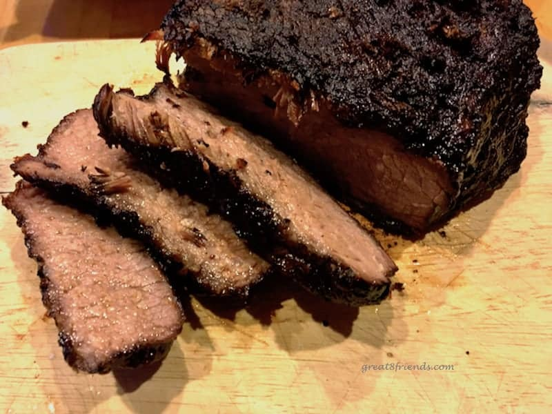 This Smoked Brisket is the perfect meat to have cooking all day over a low fire. It is mouth watering deliciousness that makes a Gr8 meal.