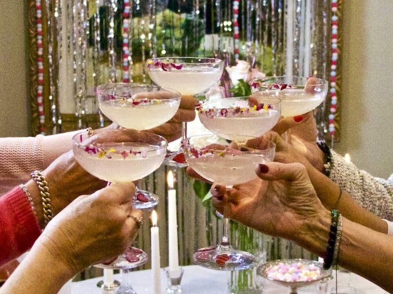 Galentine's Day Pink Lemonade Margarita Toast