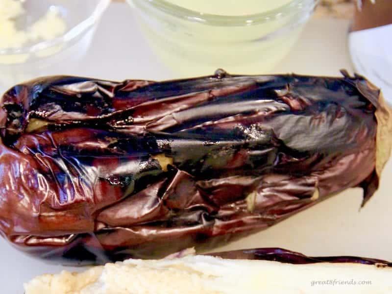 Charred eggplant for Baba Ganoush