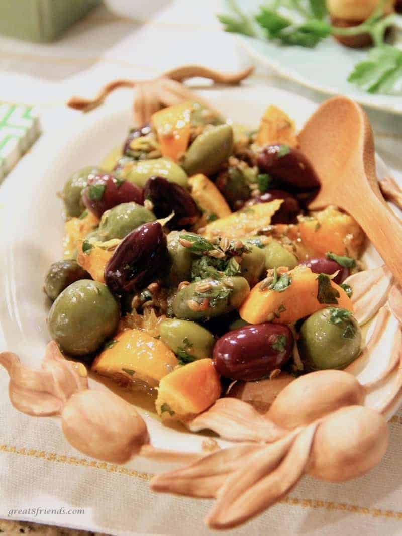 citrus olives with coriander and fennel