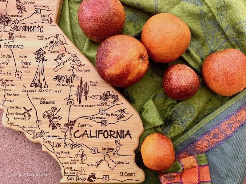 California wood cutting board