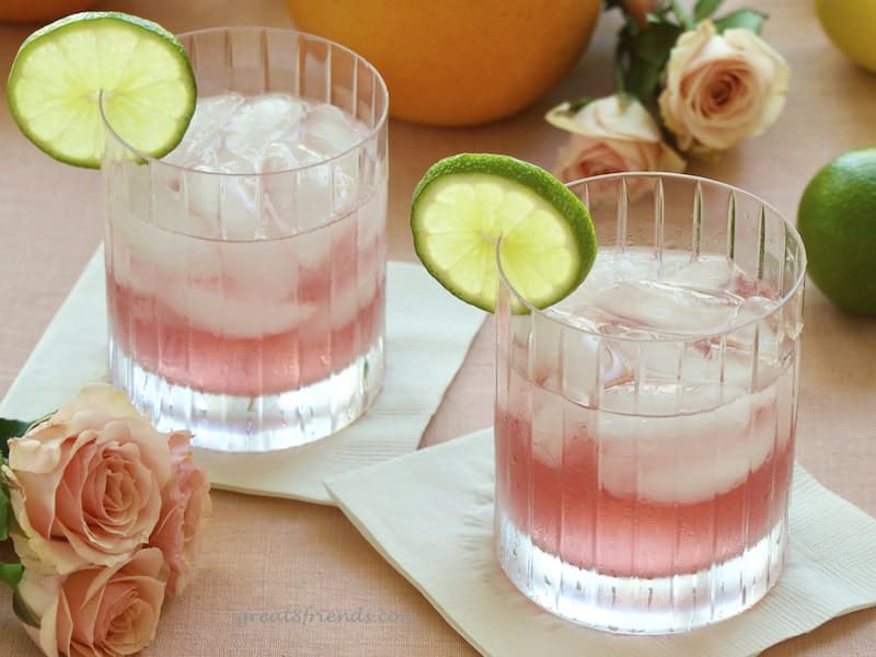Two Summer Breeze cocktails.