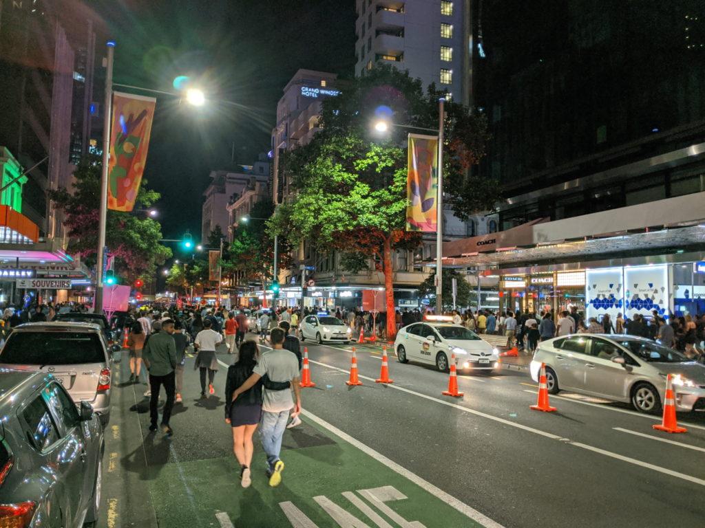 Lower Queen St taken over by pedestrians
