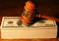 Gavel on money