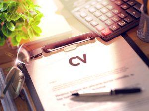 CV op schrijfbord