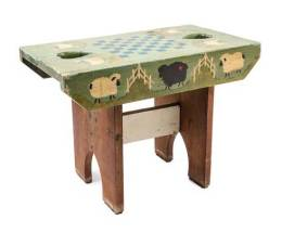 Rustic Style Painted Childs Bench
