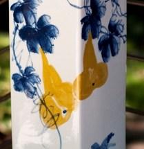 Jingdezhen Hand Painted Porcelain Square Vase