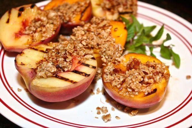 Grilled Gluten Free Peach Crisps