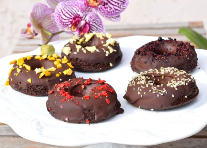 Paleo Chocolate Sweet Potato Donuts