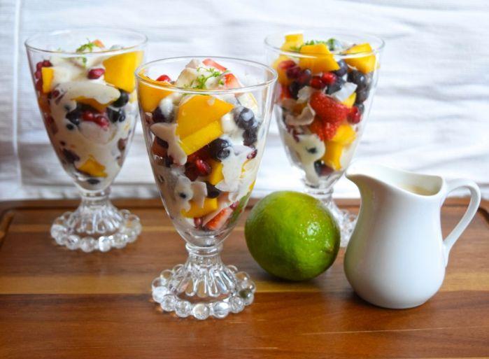 Fruit Salad with Vegan Lime Sauce